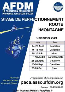 Stage de perfectionnement Route Montagne - Cavaillon (84) - Nice (06) - Barcelonnette (04) @ Cavaillon (84) - Nice (06) - Barcelonnette (04)