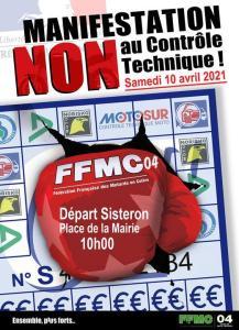 Manifestation NON au contrôle Technique - FFMC 04 - Sisteron (04) @ Sisteron (04)