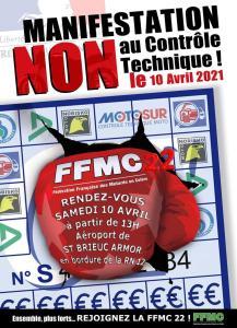 Manifestation NON au contrôle Technique - FFMC 22 - Saint Brieuc Armor (22) @ Saint Brieuc Armor (22)