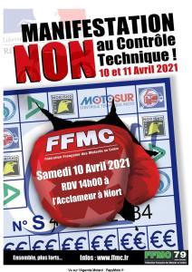 Manifestation NON au contrôle Technique - FFMC 79 - Niort (79) @ Niort (79)
