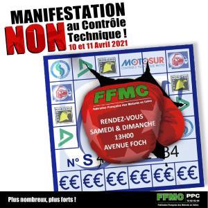 Manifestation NON au contrôle Technique - FFMC PPC - Paris (75) @ Paris (75)