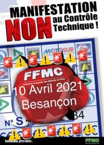 Manifestation NON au contrôle technique - FFMC 25 - Besançon (25) @ Besançon (25)