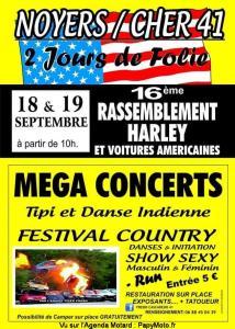 16e Rassemblement Harley - Noyers sur Cher (41) @ Noyers sur Cher (41)