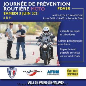 Journée de prévention routière Moto - Bourg-lès-Valence (26) @ Bourg-lès-Valence (26)