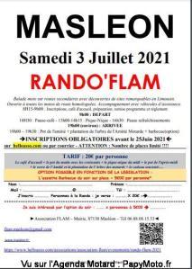 Rando'Flam - Masléon (87) @ Masléon (87)