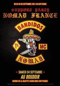 Support Party Nomad France - Bandidos Nomad MC - Cap d'Agde (34) @ Cap d'Agde (34)