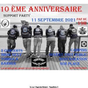 10e Anniversaire Support Party -  Château-Renault (37) @ Château-Renault (37)