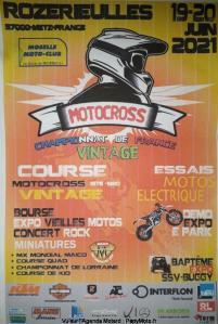 : Championnat de France de Motocross Vintage -Rozérieulles (57) @ Rozérieulles (57)