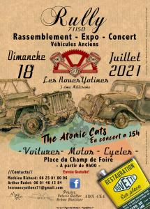 Rassemblement Véhicules anciens - Les Roues Yotines - Rully (71) @ Rully (71)