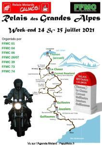 Relais des Grandes Alpes - FFMC 01 - 04 - 06 - 26 - 07 - 39 - 73 - 74 @ 01 - 04 - 06 - 26 - 07 - 39 - 73 - 74