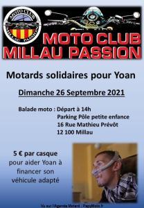 Motards solidaires pour Yoan - Moto club Millau Passion - Millau (12) @ Millau (12)