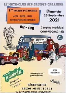 1e Bourse d'échanges - Moto Club des Druides - Compreignac (87) @ Compreignac (87)