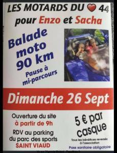 Balade Moto pour Enzo et Sacha - Saind Viaud (44) @ Saind Viaud (44)