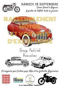 Rassemblement Motos et Voitures d'exception - Régusse (83) @ - Régusse (83)