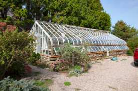 Our lovely 1930's glass greenhouse