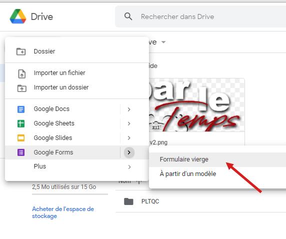 photo 3 article créer un formulaire Google en ligne https://par-le-temps-qui-court.fr Magali Cochez