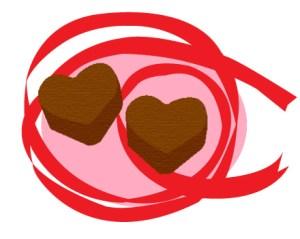 ハート型のチョコレート(JPEG)