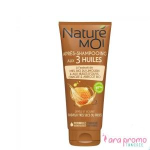 NATURE MOI APRÈS-SHAMPOOING AUX 3 HUILES - Cheveux très secs ou frisés 200ML