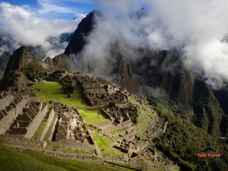 Cloudy Machu Picchu