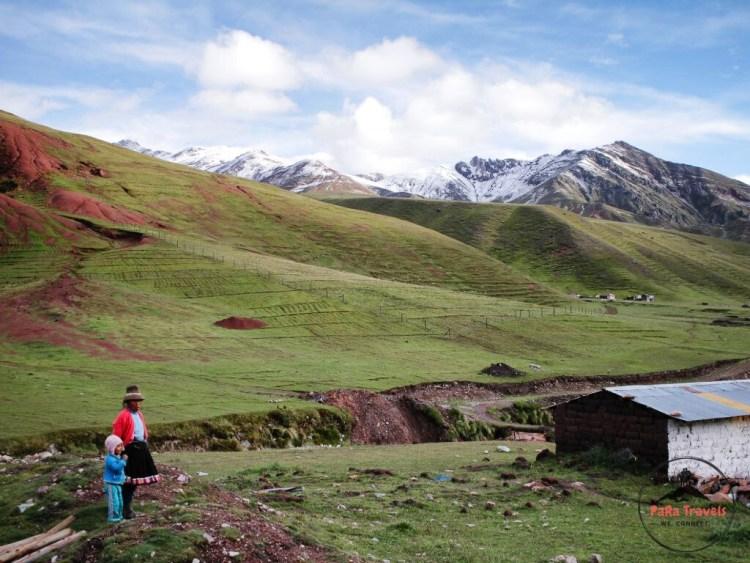 Rainbow mountains surroundings