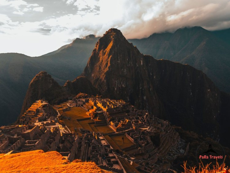 Red glance over Machu Picchu