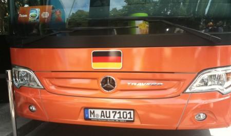 Kennzeichen des deutschen Mannschaftsbusses
