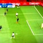 Spielszene aus dem Spiel Frankreich gegen Deutschland