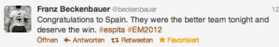 Tweet von Beckenbauer