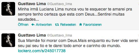 Tweets von Lima zum Tod der Schwester