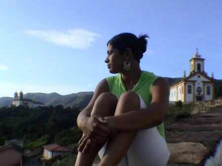 Brasilianerin in Ouro Preto