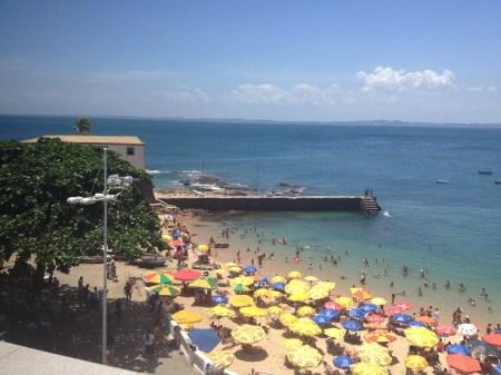 Blick auf Strand