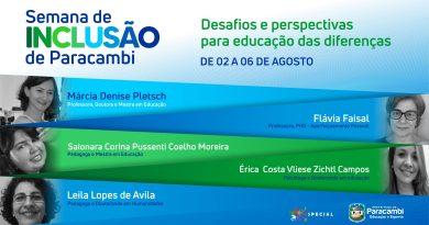 Prefeitura promove a Semana da Inclusão com palestras online