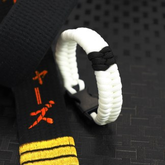 White Belt Black Stripe