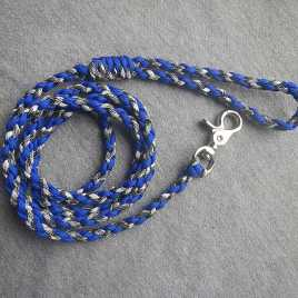 Acid Blue and Siberian Camo Paracord Dog Leash
