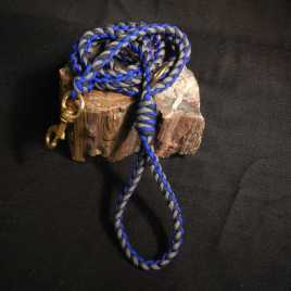 Paracord Dog Leash, Blue, Charcoal and Black
