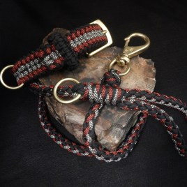 Black, Red and Black Diamond Collar Leash Combo