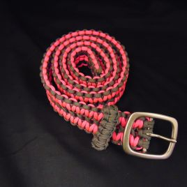 Pink and Charcoal Paracord Belt