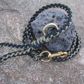 Black Khaki and Camo 8 Strand leash