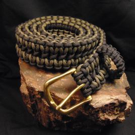 OD Green and Black paracord Belt