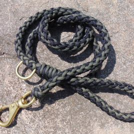 Black and OD Green Leash