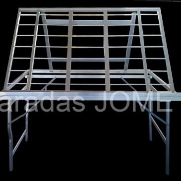 Mesa plegable de aluminio expositora normal sin cobertura MOD-15