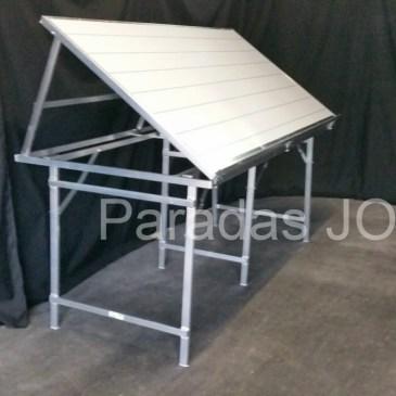 Mesa plegable de aluminio expositora reforzada MOD-14