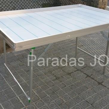 Mesa plegable de aluminio reforzada plana con borde MOD-13