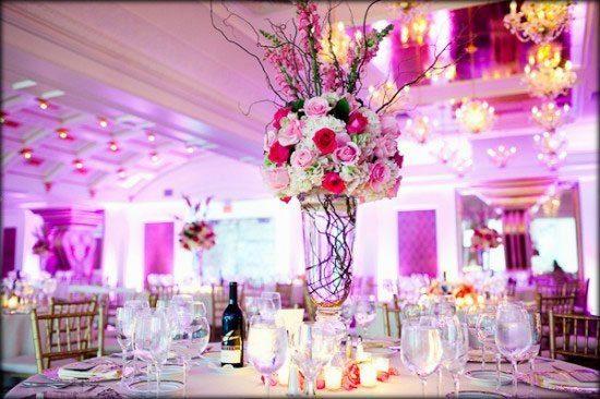 centros de mesa con flores naturales para 15 años