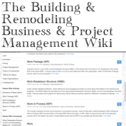 The Building & Remodeling Business & Project Management Wiki