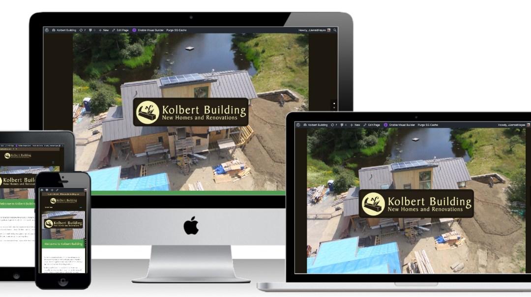 New Website Design For KolbertBuilding.com