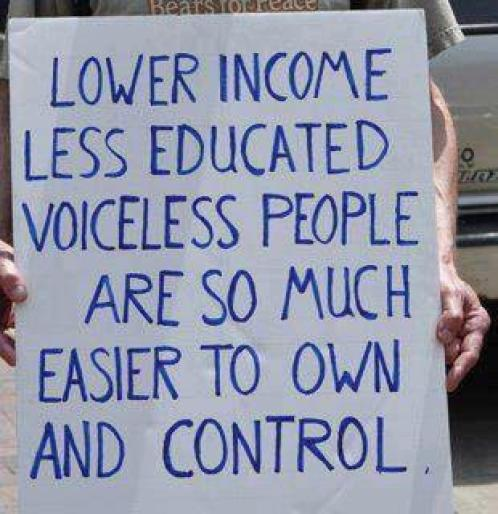 less educated