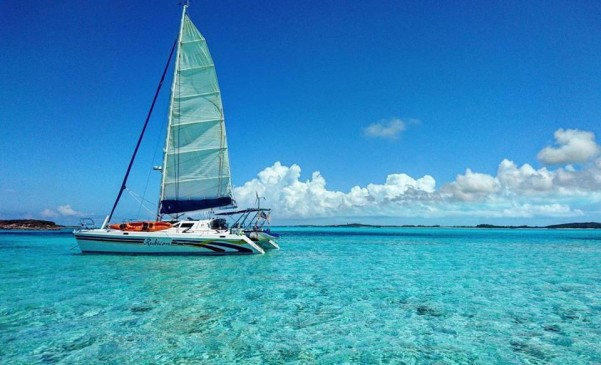 catamaran cruise with paradise bay
