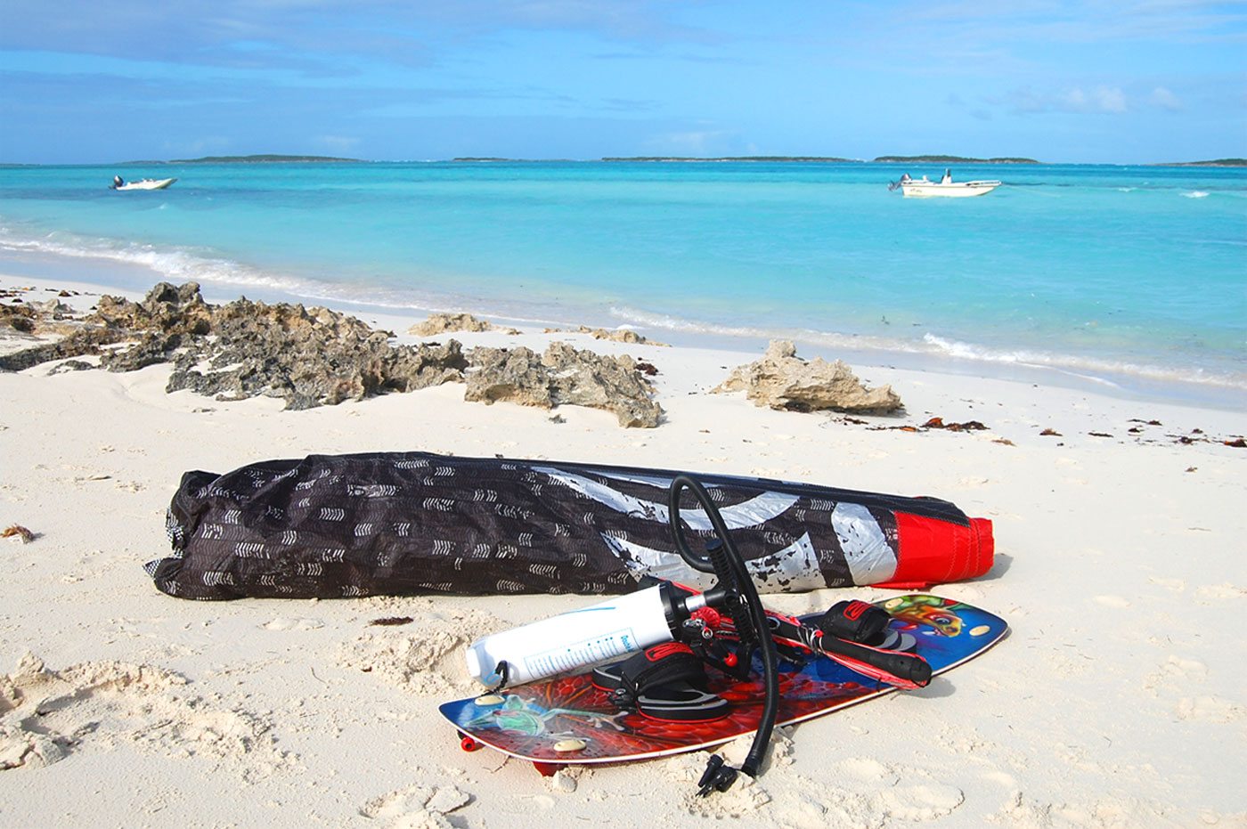 kitesurf equipment in exuma