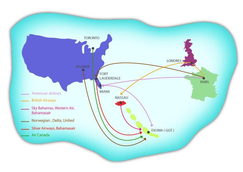 Bahamasair fly to Exuma Bahamas